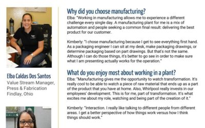 Women in Manufacturing Spotlight: Elba Caldas Dos Santos and Kimberly Crowell