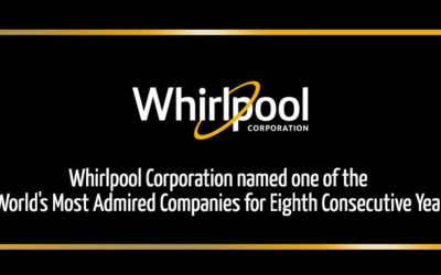 Whirlpool Corporation named one of the World's Most Admired Companies for Eighth Consecutive Year