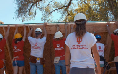 IU, Kelley School and Whirlpool partnered on Habitat for Humanity campus build in Bloomington