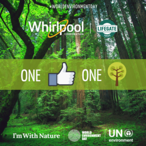 Every new like on the Whirlpool EMEA Facebook page will protect a square meter of Amazonian rainforest, the aim being to safeguard 10,000 sqm of forest.