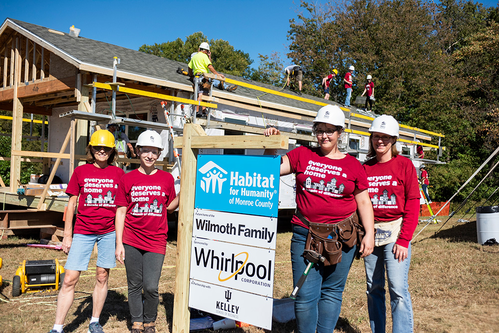 10 years Building Habitat Homes at Indiana University