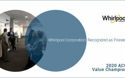 Association of Corporate Counsel  Announces Whirlpool Corporation as a 2020 ACC Value Champion