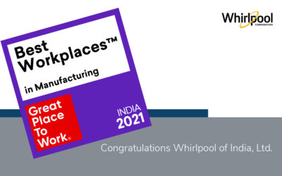 Whirlpool of India, One of India's Best Workplaces in Manufacturing