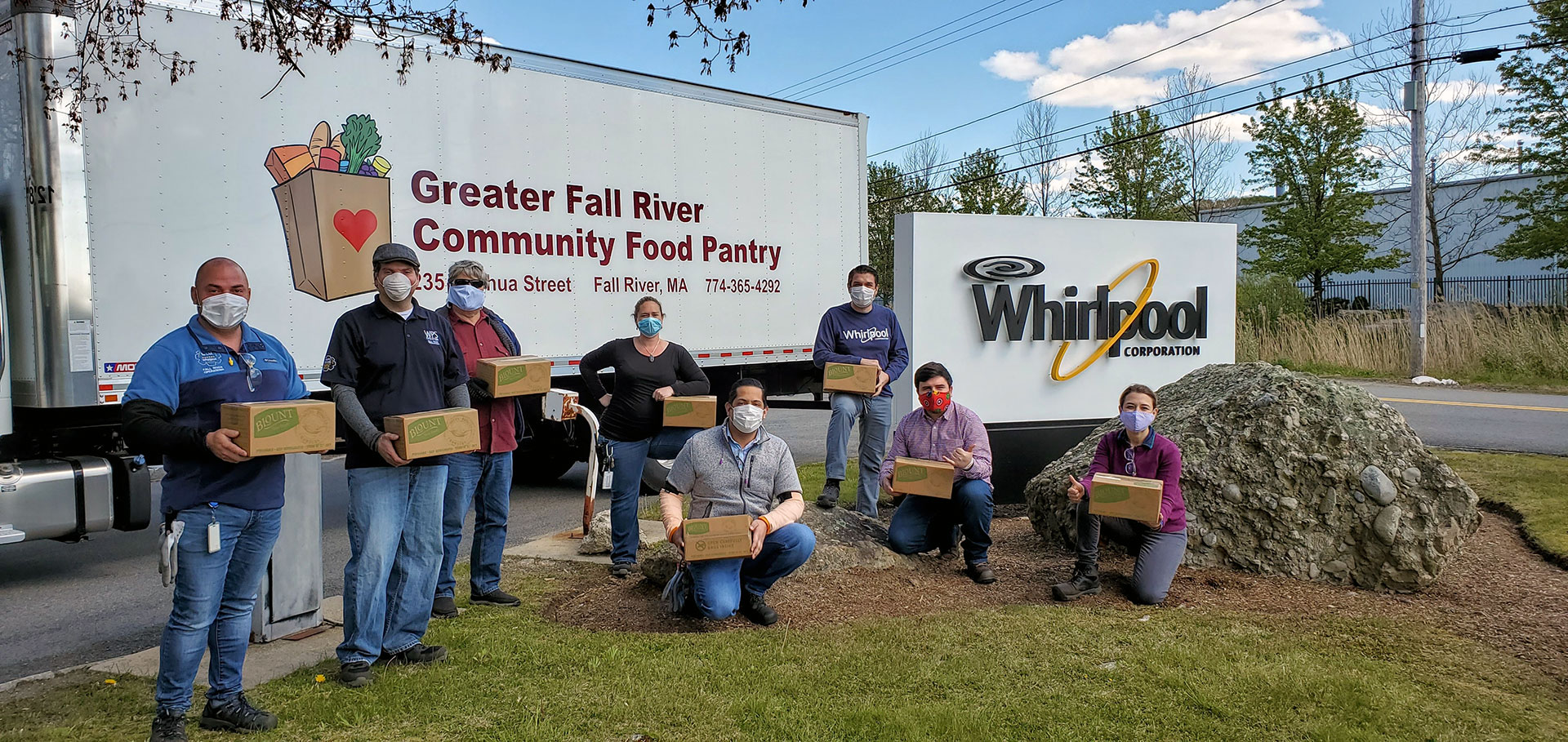 Whirlpool Fall River Foodbank donation