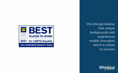 Whirlpool Corporation Awarded Perfect 100 on the 2021 Corporate Equality Index for 18th Year in a Row