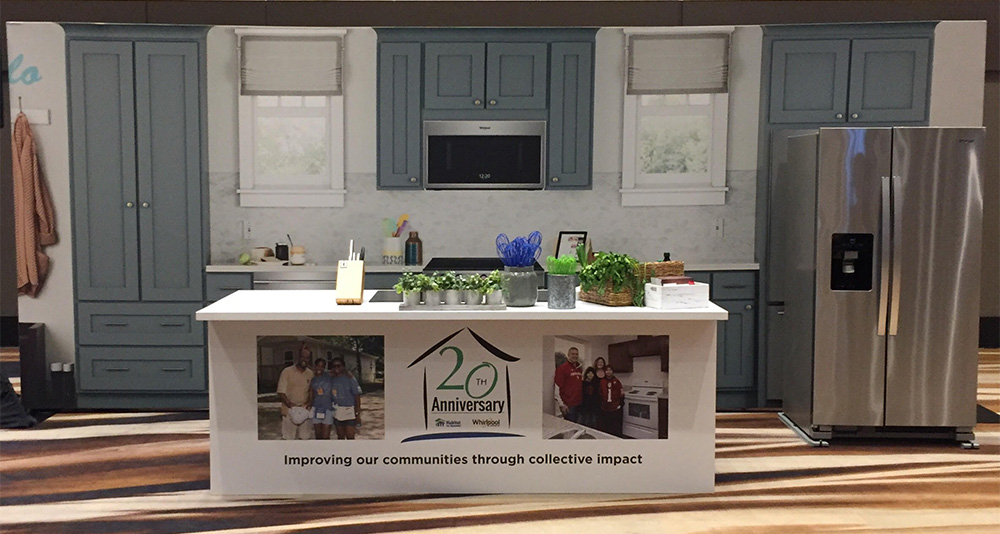 Habitat for Humanity and Whirlpool Corp - 20th Anniversary Booth