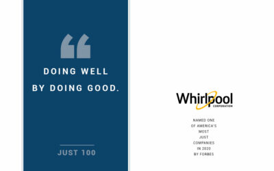 Forbes Names Whirlpool Corporation to the Just 100: Companies Doing Right By America