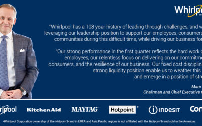 Whirlpool Corporation Reports Resilient First-Quarter 2020 Results