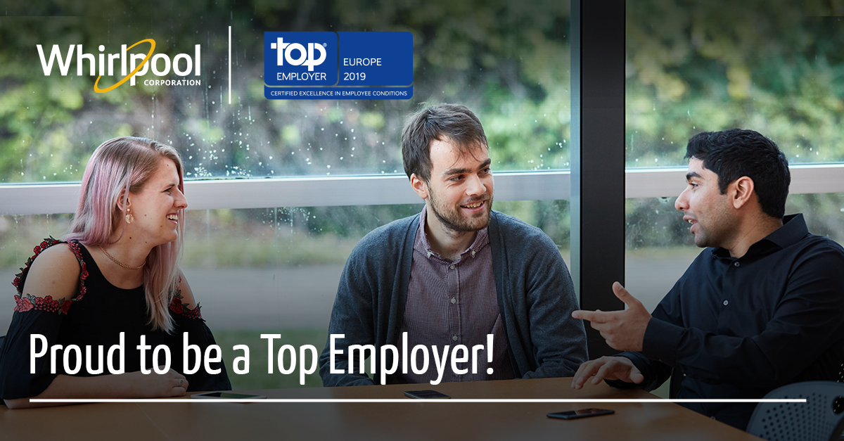 Whirlpool EMEA certified Top Employer Europe 2019