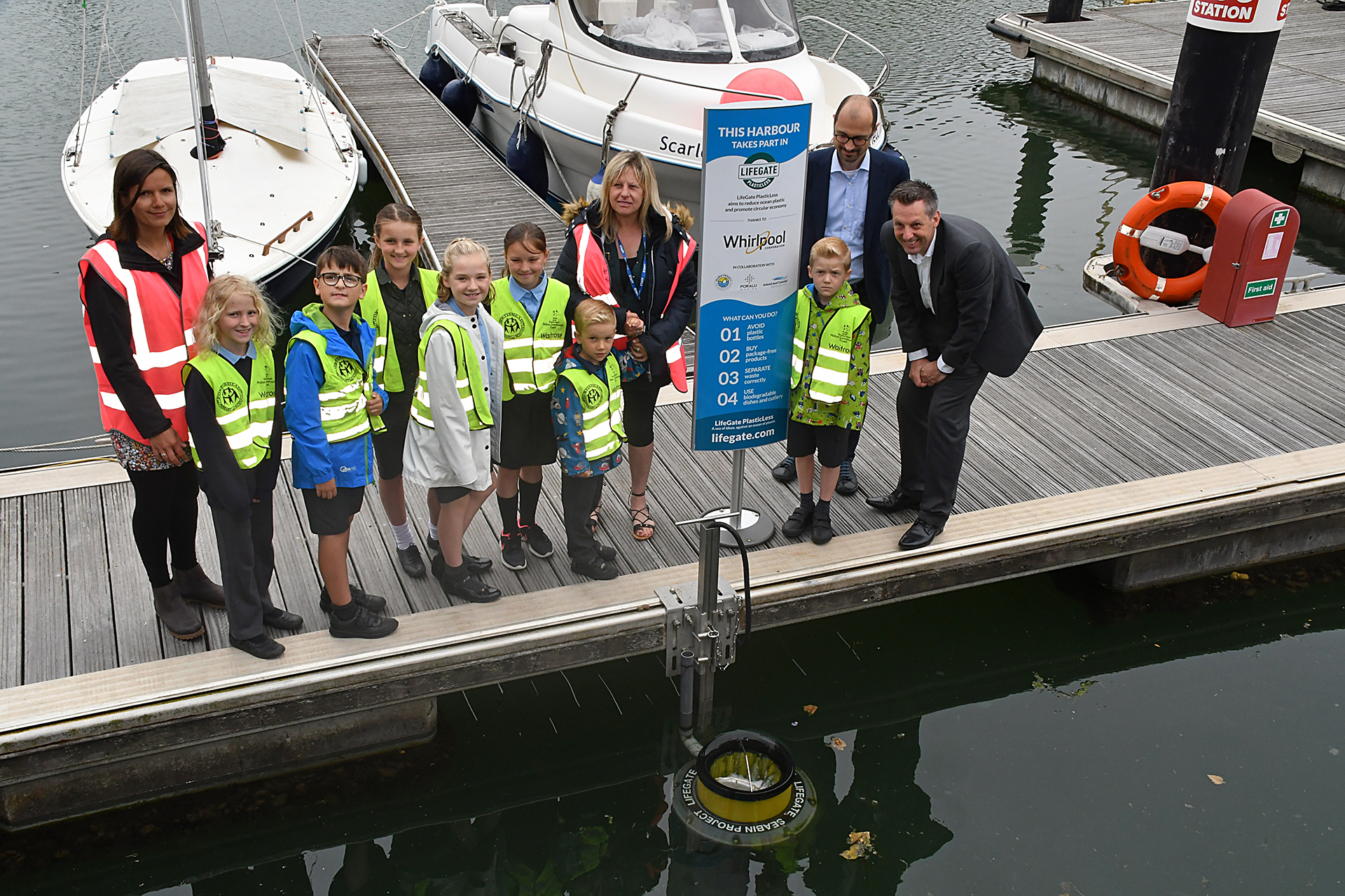 Whirlpool EMEA installs Seabin in the UK under Lifegate Plasticless campaign