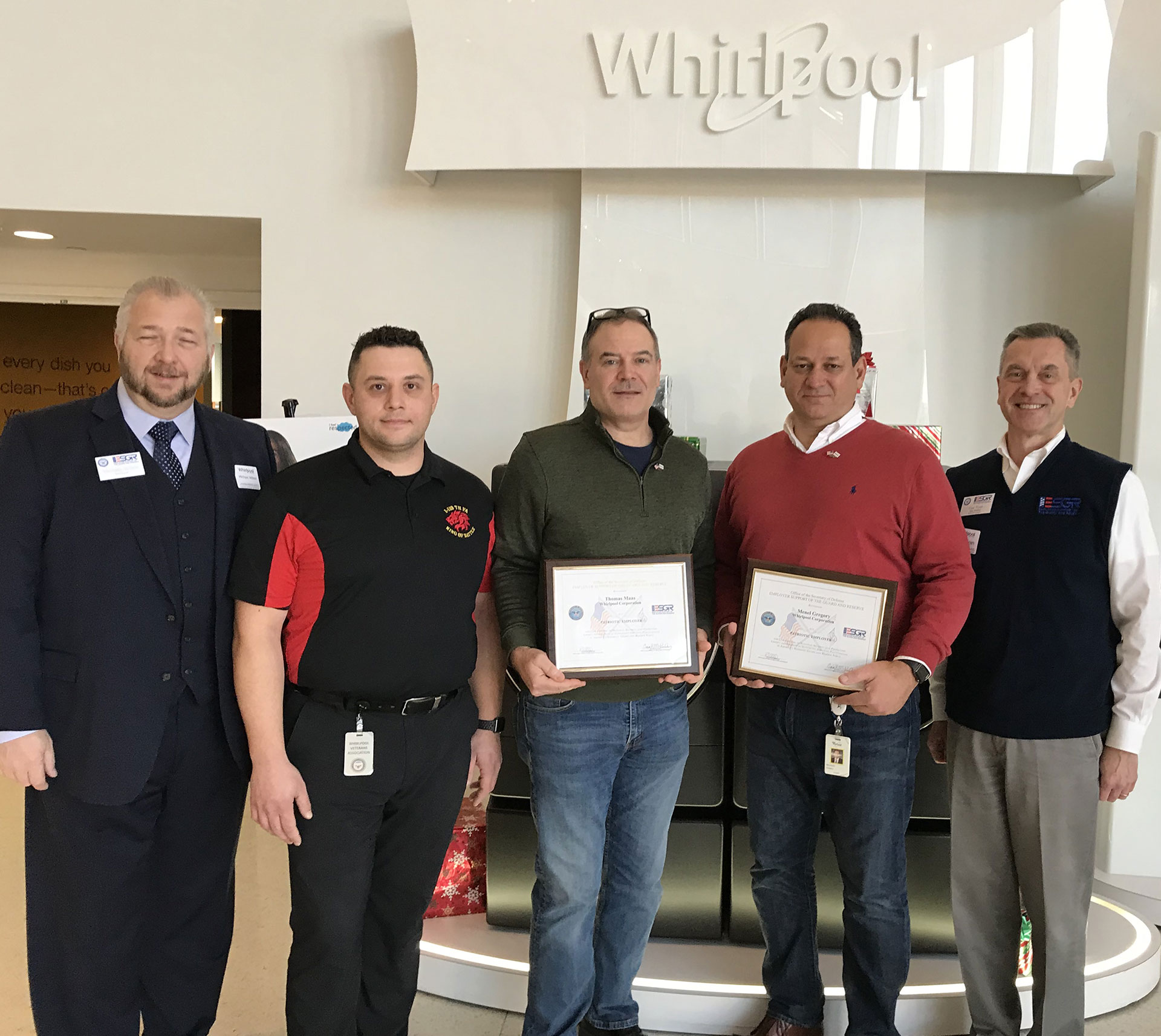 Whirlpool Managers support Veterans